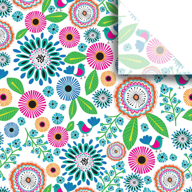 "Bulk Pack Floral Design Gift Tissue Paper 20"" x 30"", Petunia, 240 Sheets"