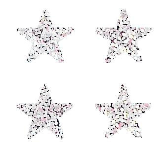 Jillson & Roberts Bulk Roll Prismatic Stickers, Mini Stars (100 Repeats)