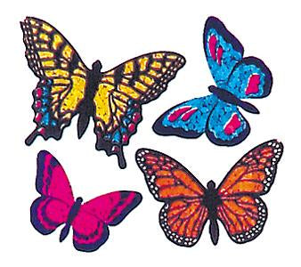 Jillson & Roberts Bulk Roll Prismatic Stickers, Mini Butterflies (100 Repeats) - Present Paper