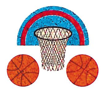 Jillson & Roberts Bulk Roll Prismatic Stickers, Mini Basketball (100 Repeats) - Present Paper