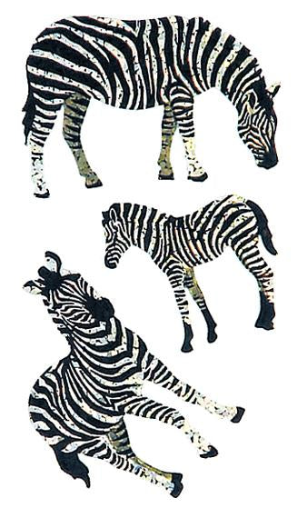 Bulk Roll Prismatic Stickers, Zebras (50 Repeats)