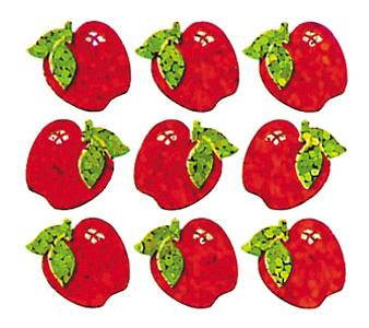 Jillson & Roberts Bulk Roll Prismatic Stickers, Micro Apples (100 Repeats) - Present Paper