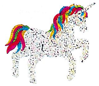 Bulk Roll Prismatic Stickers, Unicorn / Rainbow Mane and Tail (100 Repeats)
