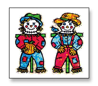 Jillson & Roberts Bulk Roll Prismatic Stickers, Mr. & Mrs. Scarecrow (100 Repeats) - Present Paper