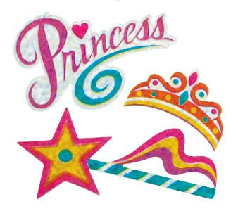 Jillson & Roberts Bulk Roll Prismatic Stickers, Princess (100 Repeats) - Present Paper
