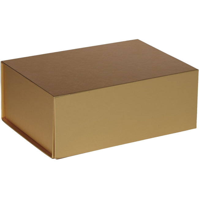 Jillson & Roberts Small Gift Box with Magnetic Closure, Metallic Gold Matte (12 Pcs)