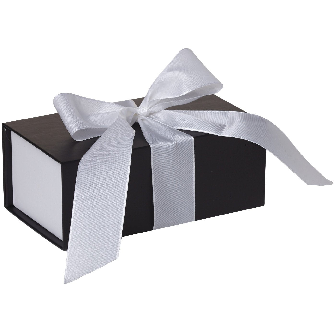 Jillson & Roberts Small Gift Box with Ribbon Tie, Sophisticate Black Matte (12 Pcs)