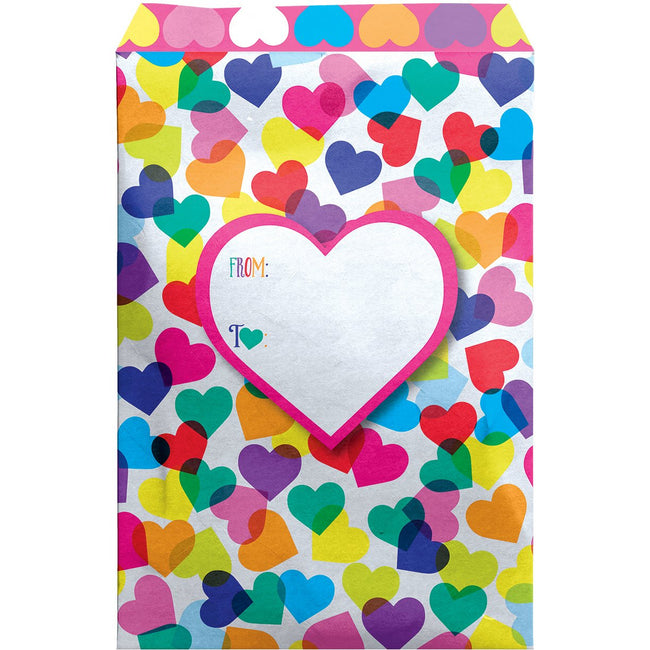 Small Valentine Love Printed Padded Mailing Envelopes, Heartfelt (24 Pieces)