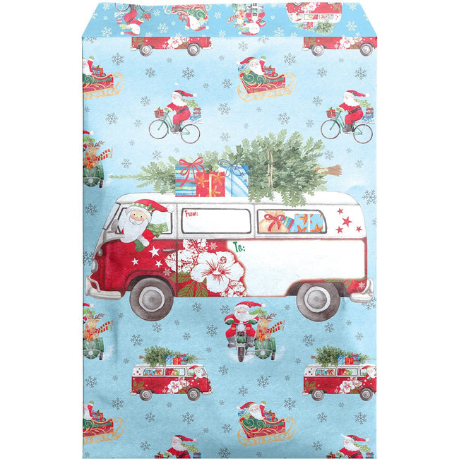 Large Christmas Printed Padded Mailing Envelopes, Santa Delivery (24 Pieces)