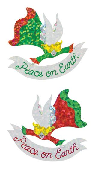 Jillson & Roberts Bulk Roll Prismatic Stickers, Angel / Peace on Earth (50 Repeats) - Present Paper