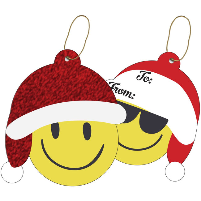 Jillson & Roberts Gift Tags with Tie String, Emoji Christmas (100 Pcs)