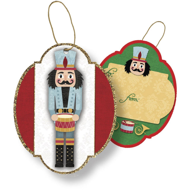 Jillson & Roberts Gift Tags with Tie String, Traditional Nutcracker (100 Pcs)