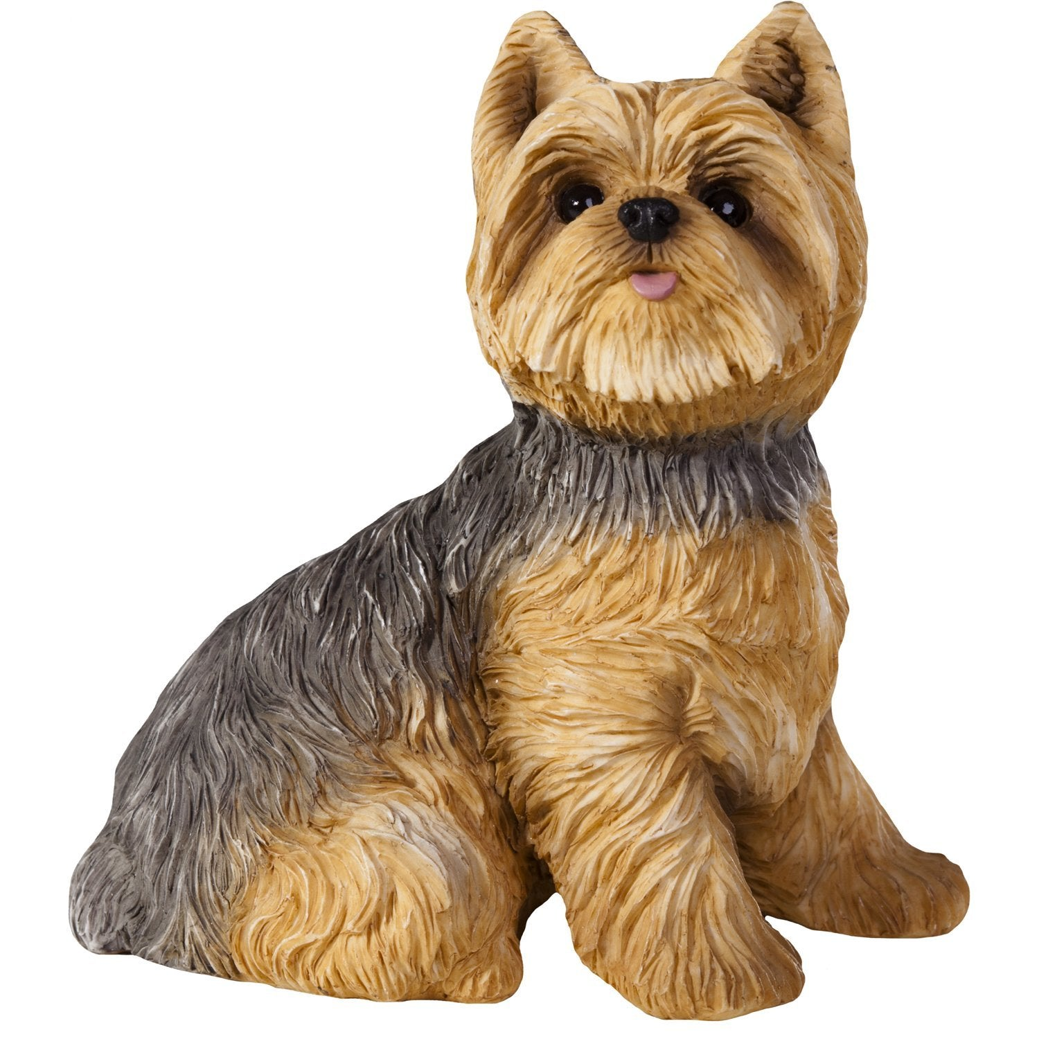 "Sandicast ""Life Size"" Sitting Yorkshire Terrier Dog Sculpture"