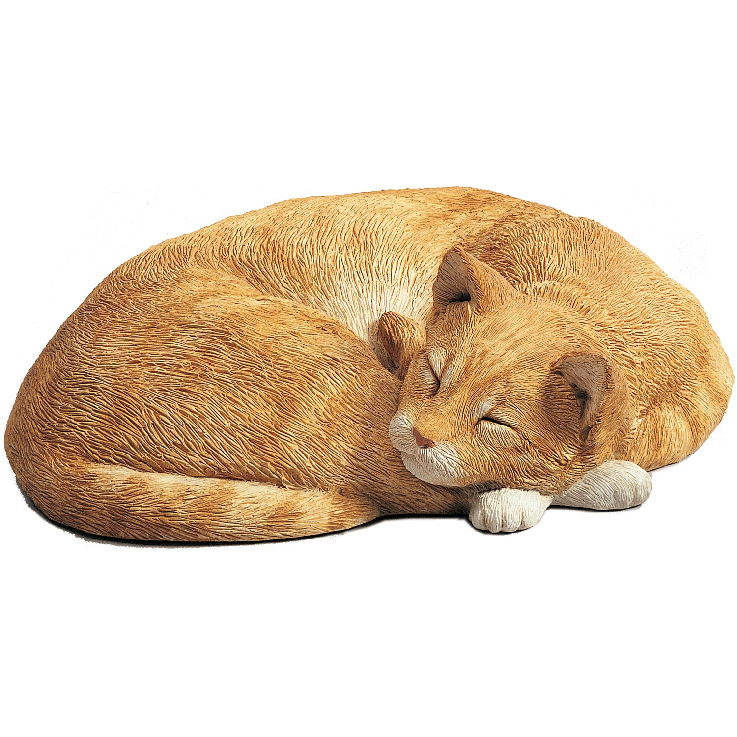 "Sandicast ""Life Size"" Lying Orange Cat"