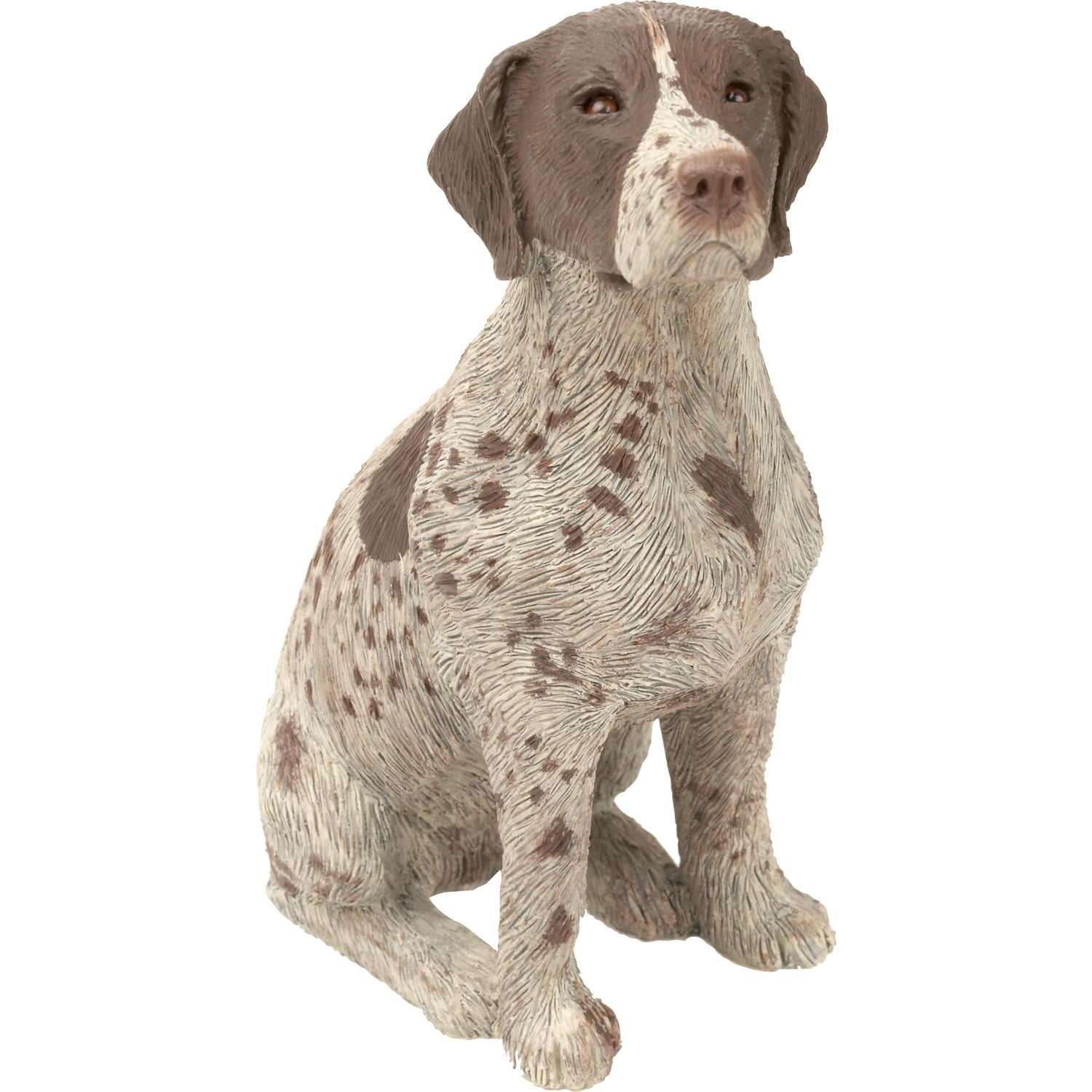 "Sandicast ""Mid Size"" Sitting German Shorthaired Pointer Dog Sculpture"