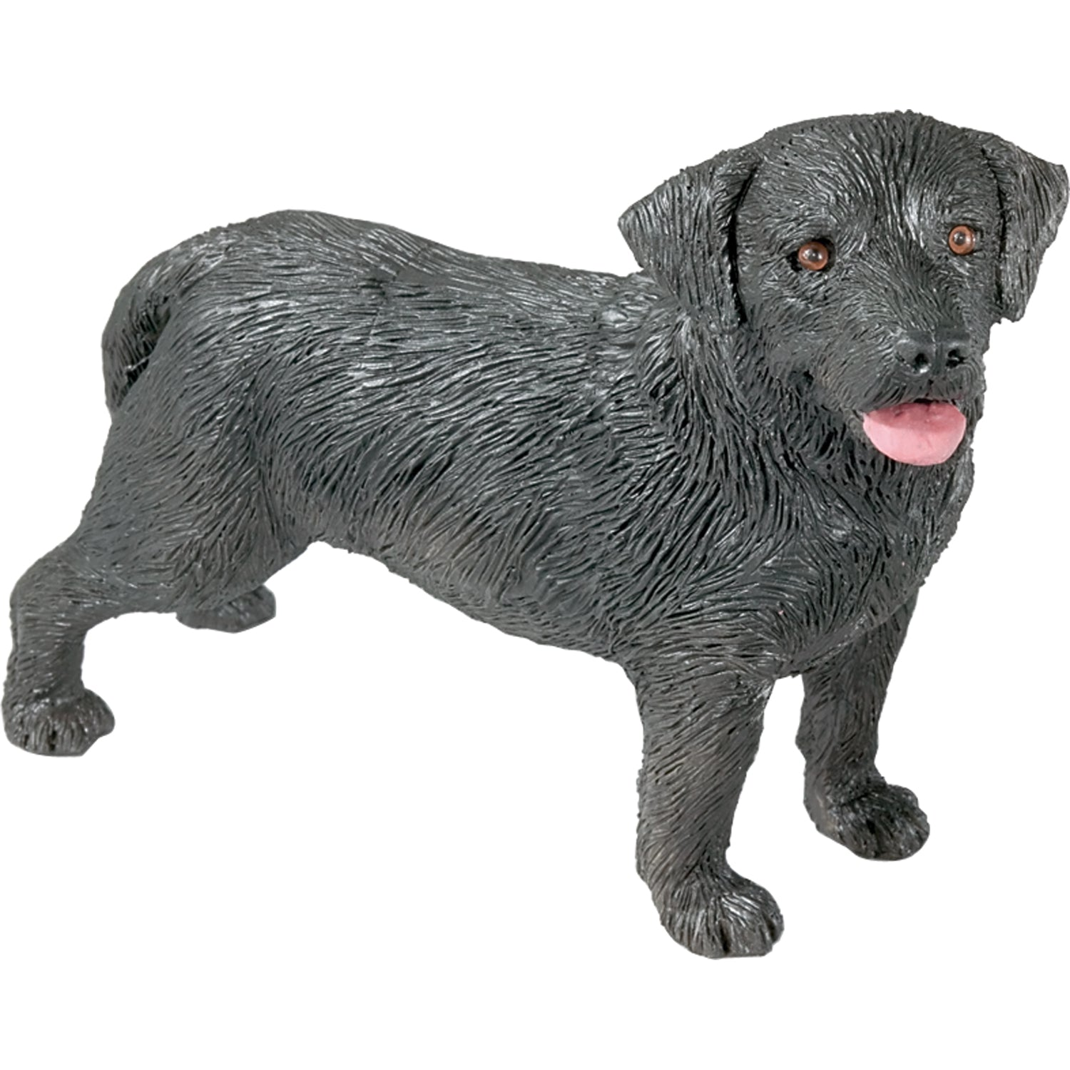 "Sandicast ""Mid Size"" Standing Black Labrador Retriever Dog Sculpture"