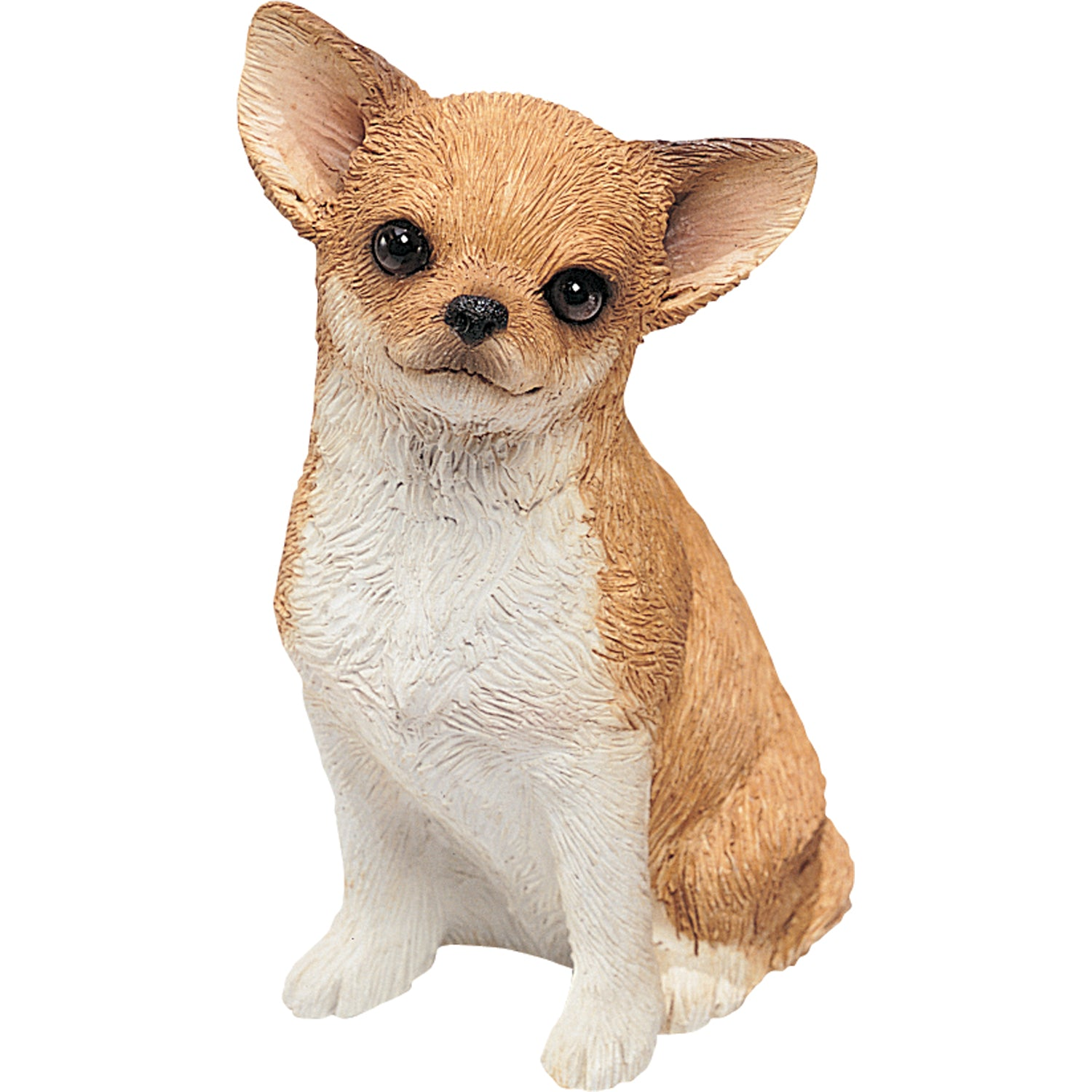 "Sandicast ""Mid Size"" Sitting Fawn Chihuahua Dog Sculpture"