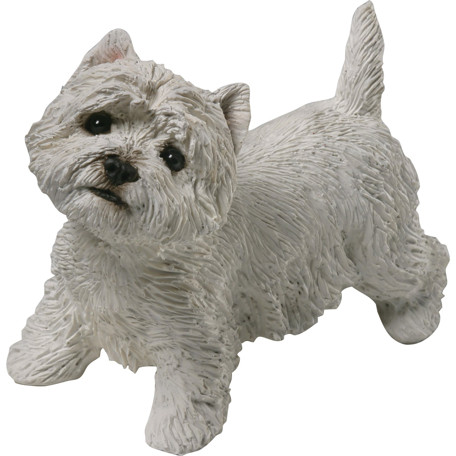 "Sandicast ""Mid Size"" Standing West Highland White Terrier Dog Sculpture"
