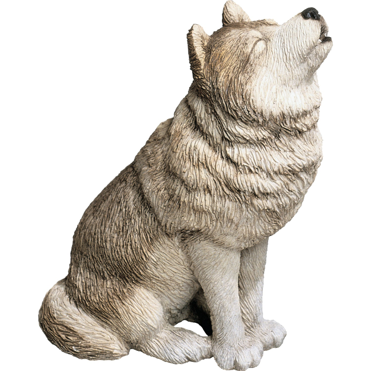"Sandicast ""Mid Size"" Howling Gray Wolf Sculpture"