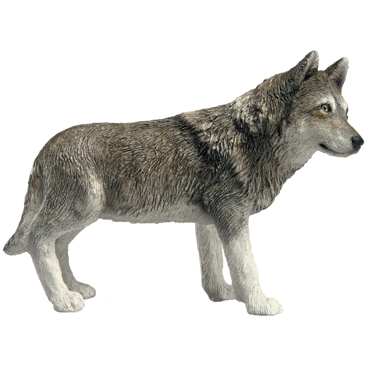 "Sandicast ""Mid Size"" Standing Gray Wolf Sculpture"