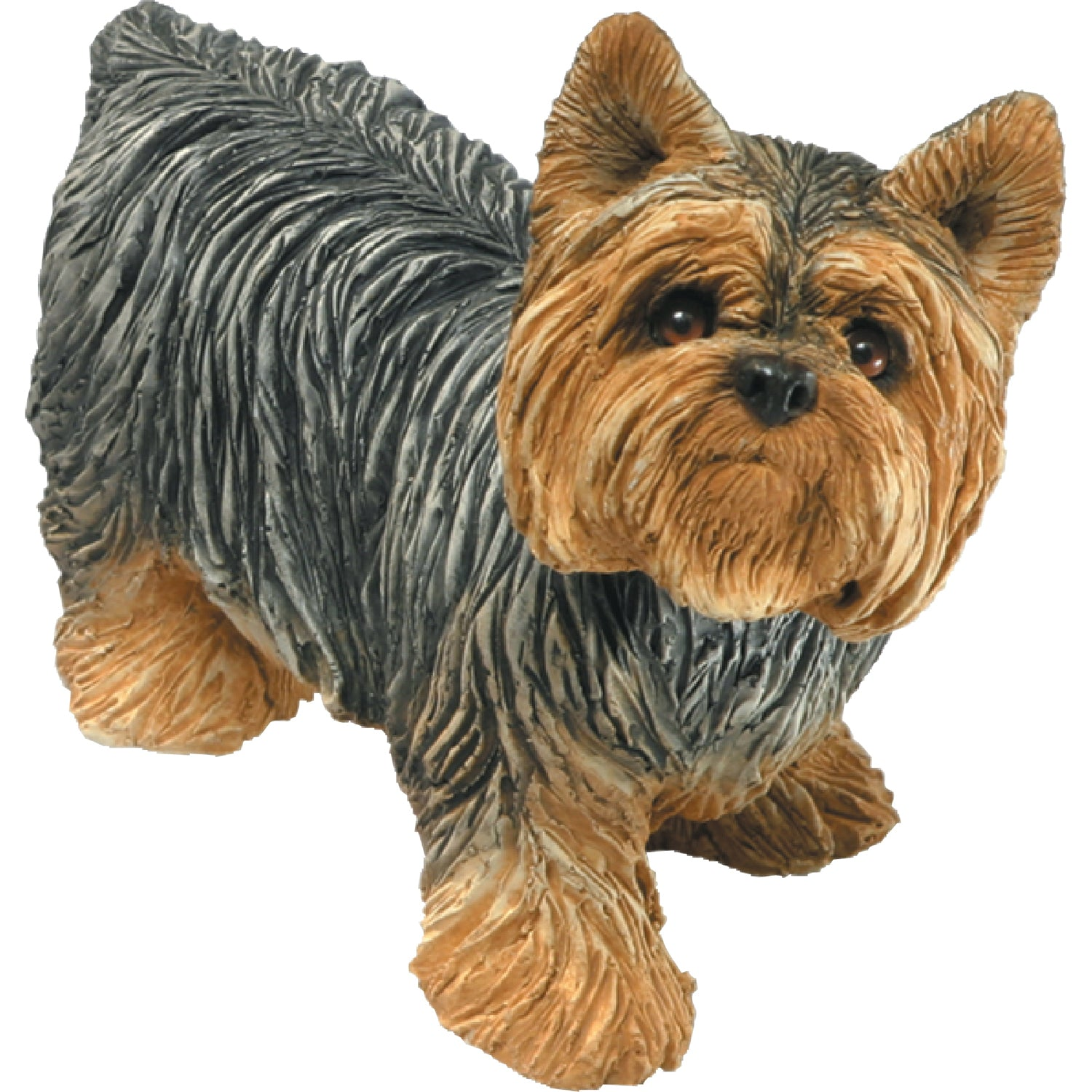 "Sandicast ""Mid Size"" Standing Yorkshire Terrier Dog Sculpture"