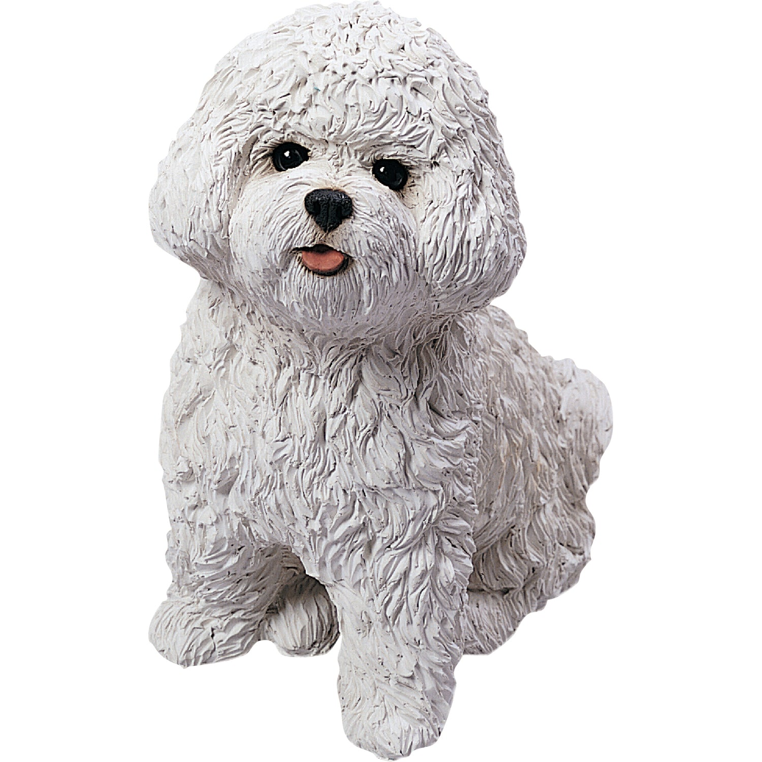 "Sandicast ""Original Size"" Sitting Bichon Frise Dog Sculpture"