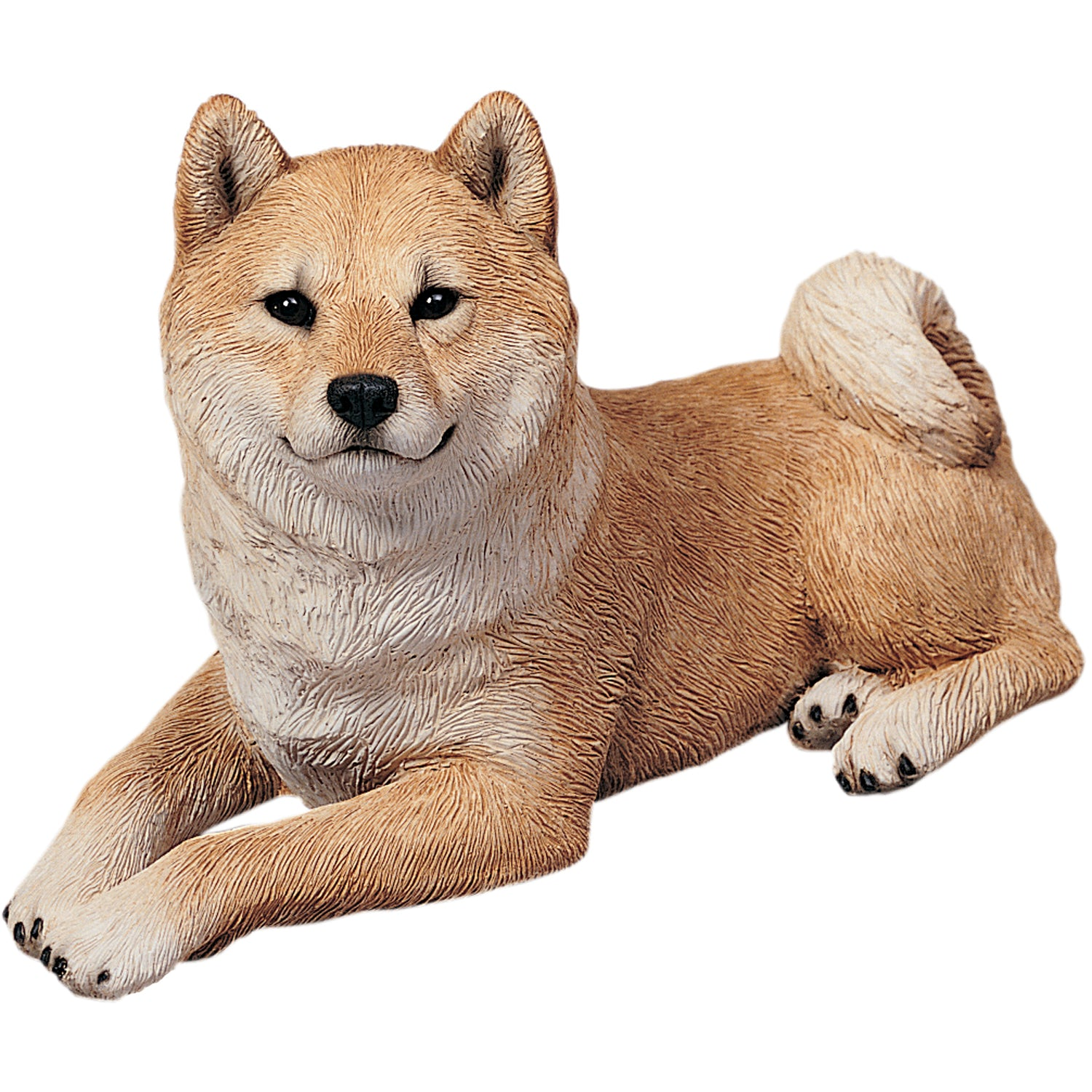 "Sandicast ""Original Size"" Lying Red Shiba Inu Dog Sculpture"