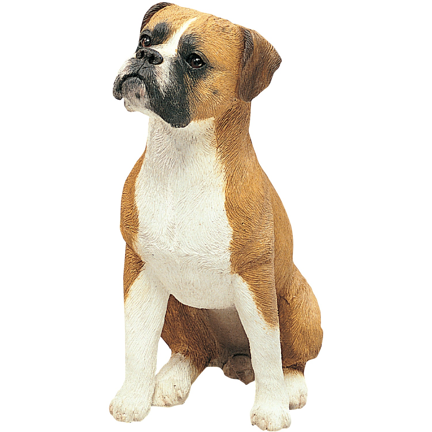"Sandicast ""Original Size"" Sitting Fawn UC Boxer Dog Sculpture"