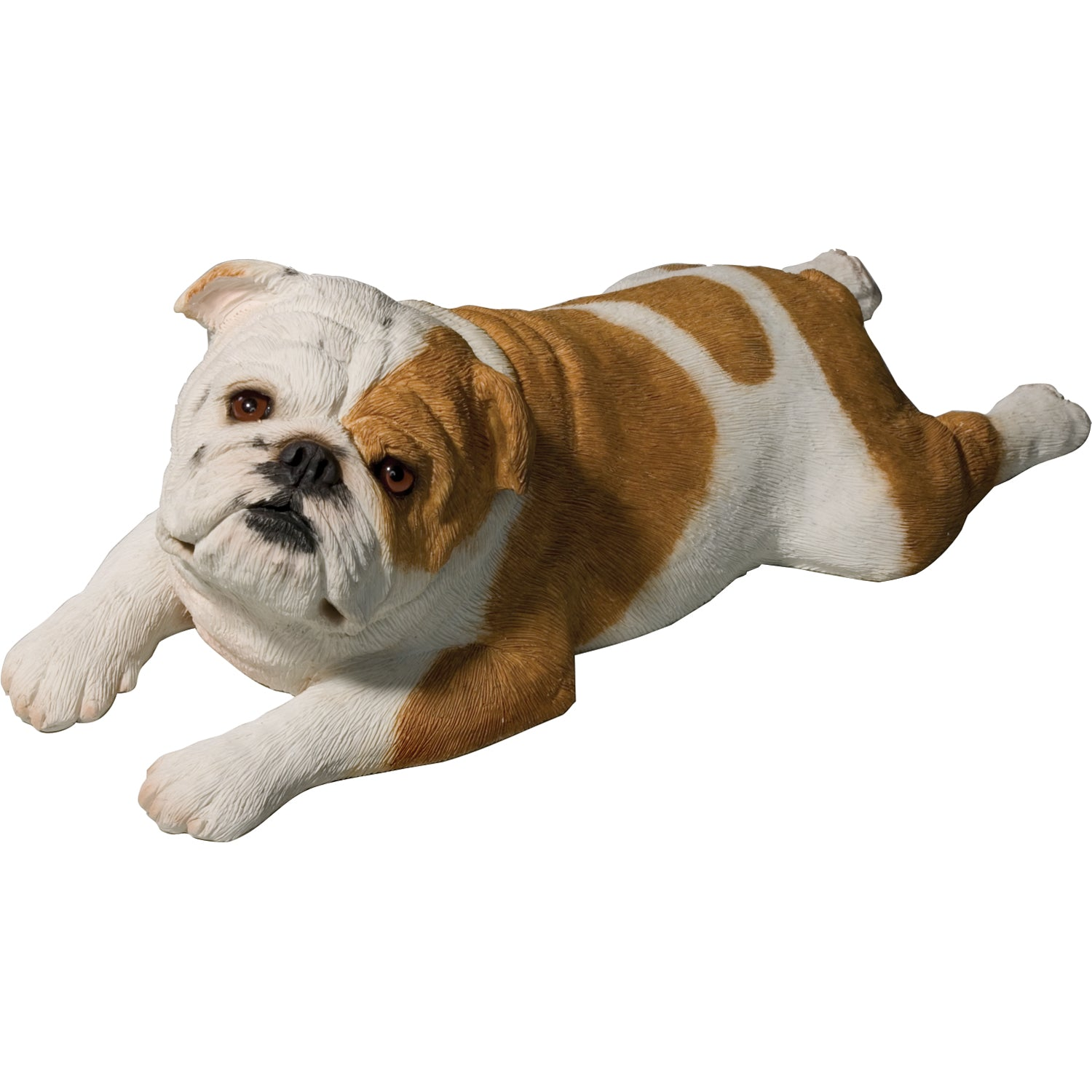 "Sandicast ""Original Size"" Lying Fawn Bulldog Sculpture"