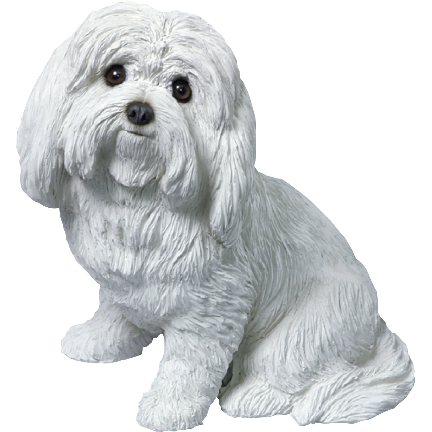 "Sandicast ""Original Size"" Sitting Maltese Dog Sculpture"