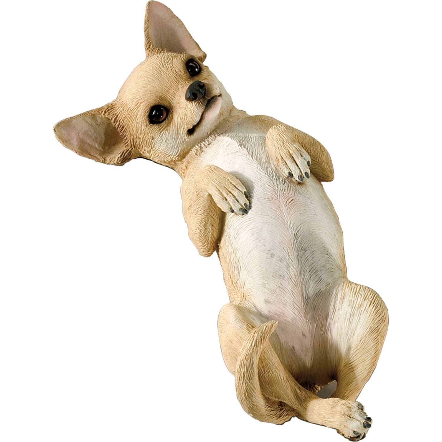 "Sandicast ""Small Size"" Back Tan Chihuahua Dog Sculpture"
