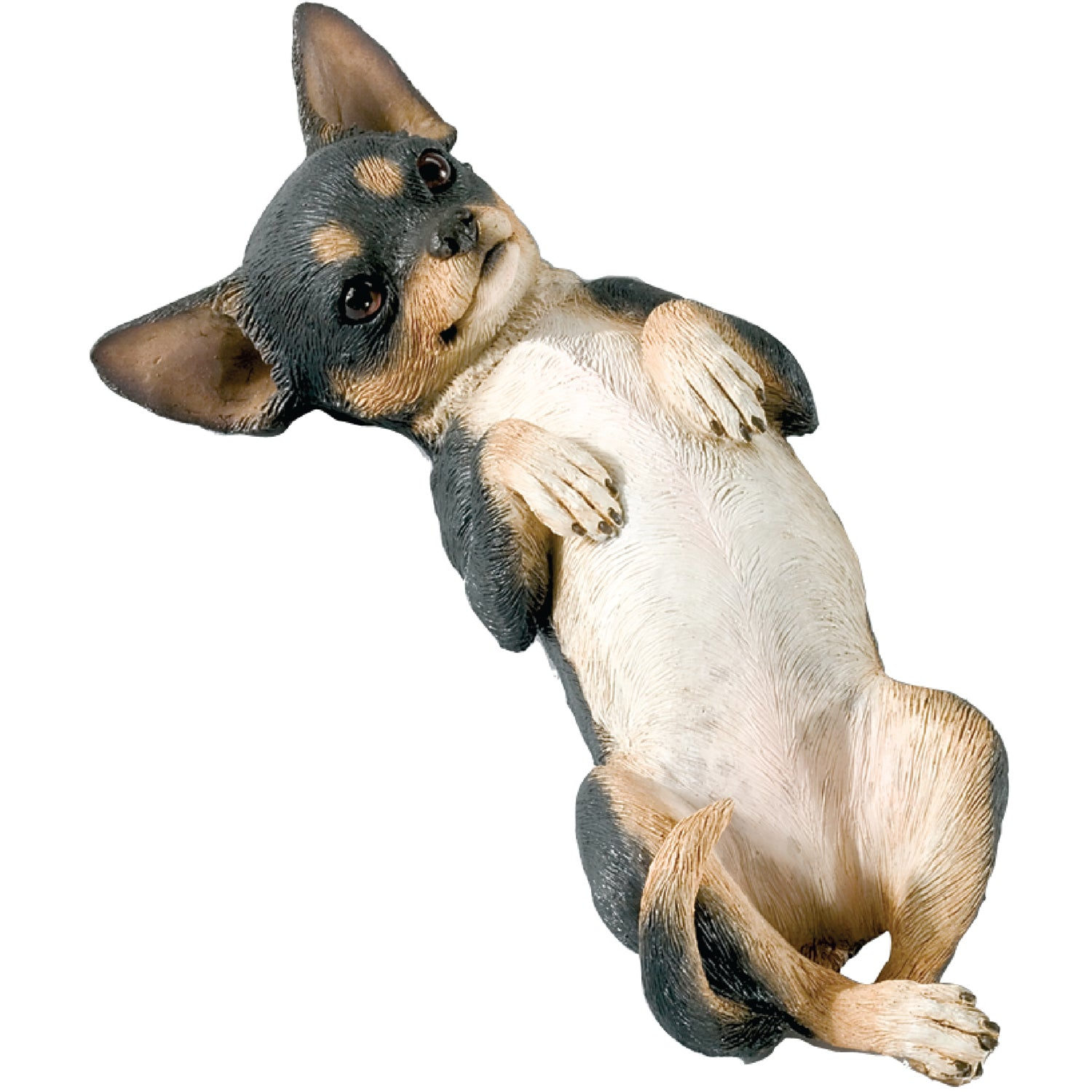 "Sandicast ""Small Size"" Back Tri Chihuahua Dog Sculpture"