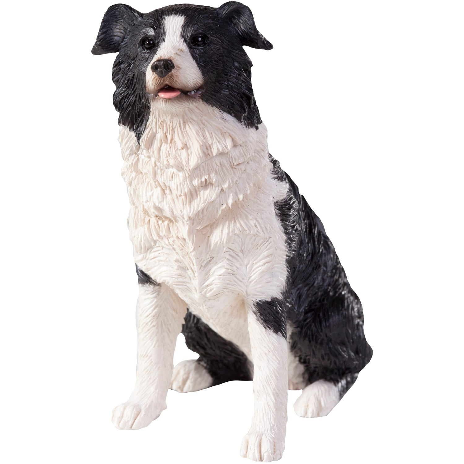 "Sandicast ""Small Size"" Sitting Border Collie Dog Sculpture"