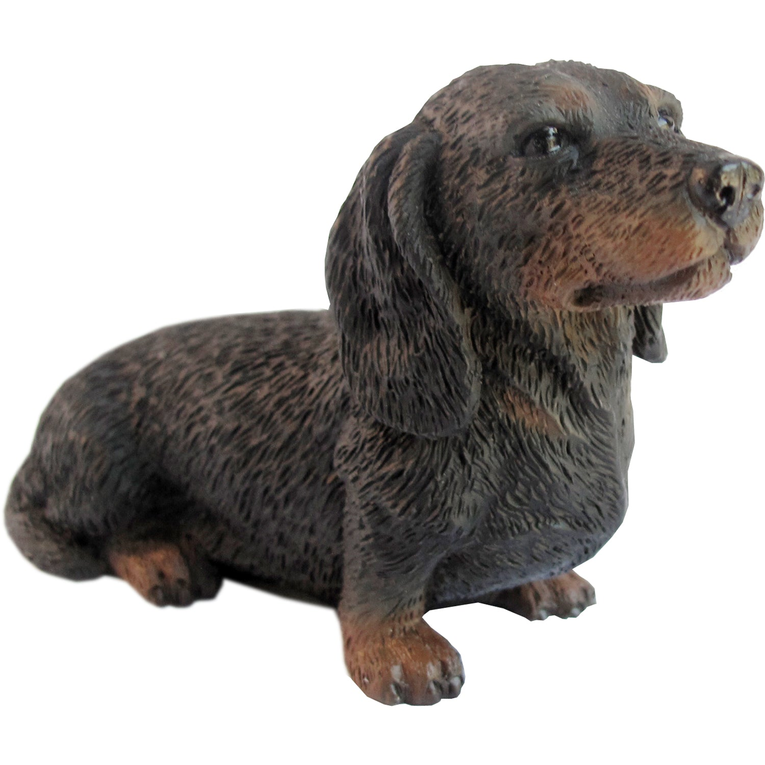"Sandicast ""Small Size"" Sitting Black Dachshund Dog Sculpture"