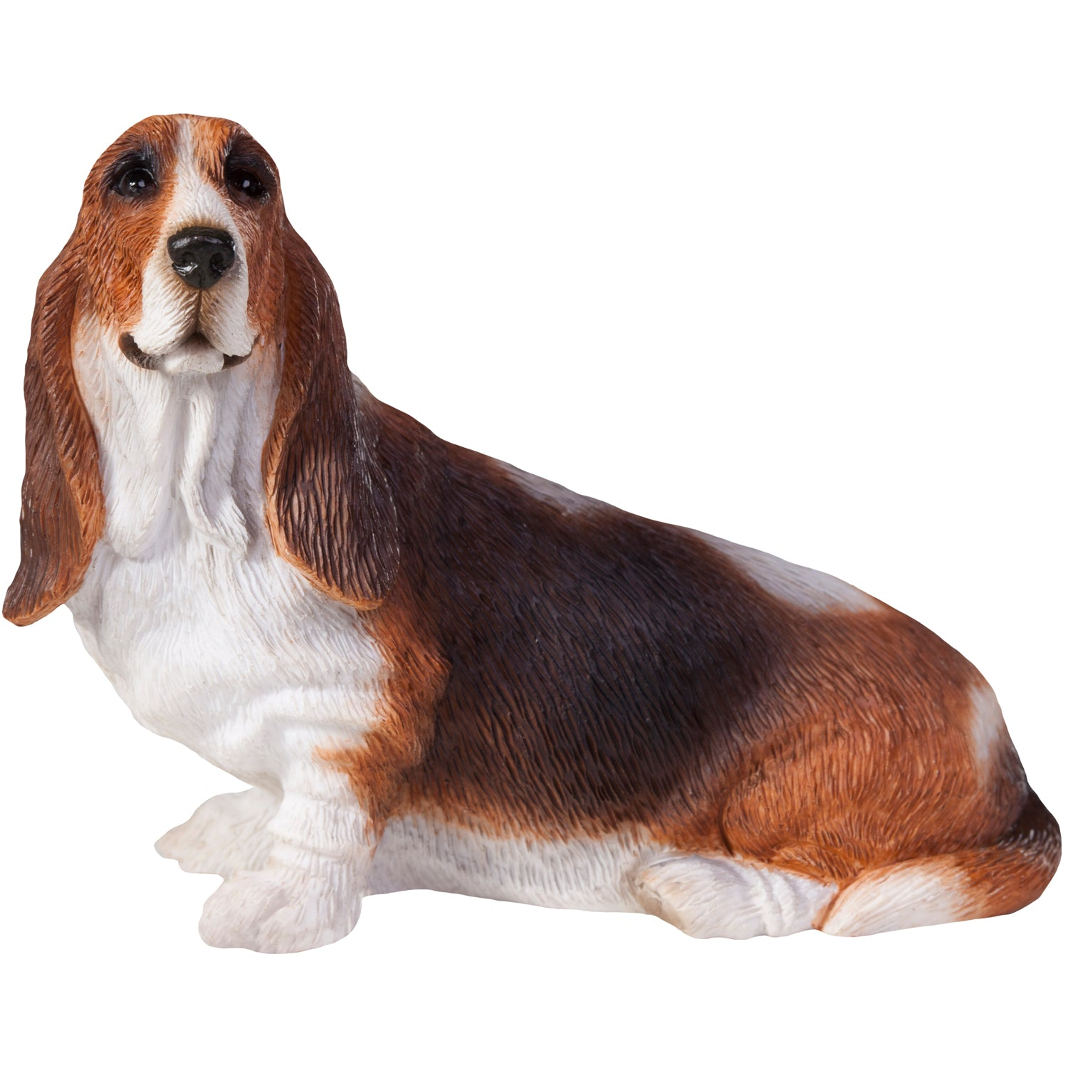 "Sandicast ""Small Size"" Sitting Basset Hound Dog Sculpture"