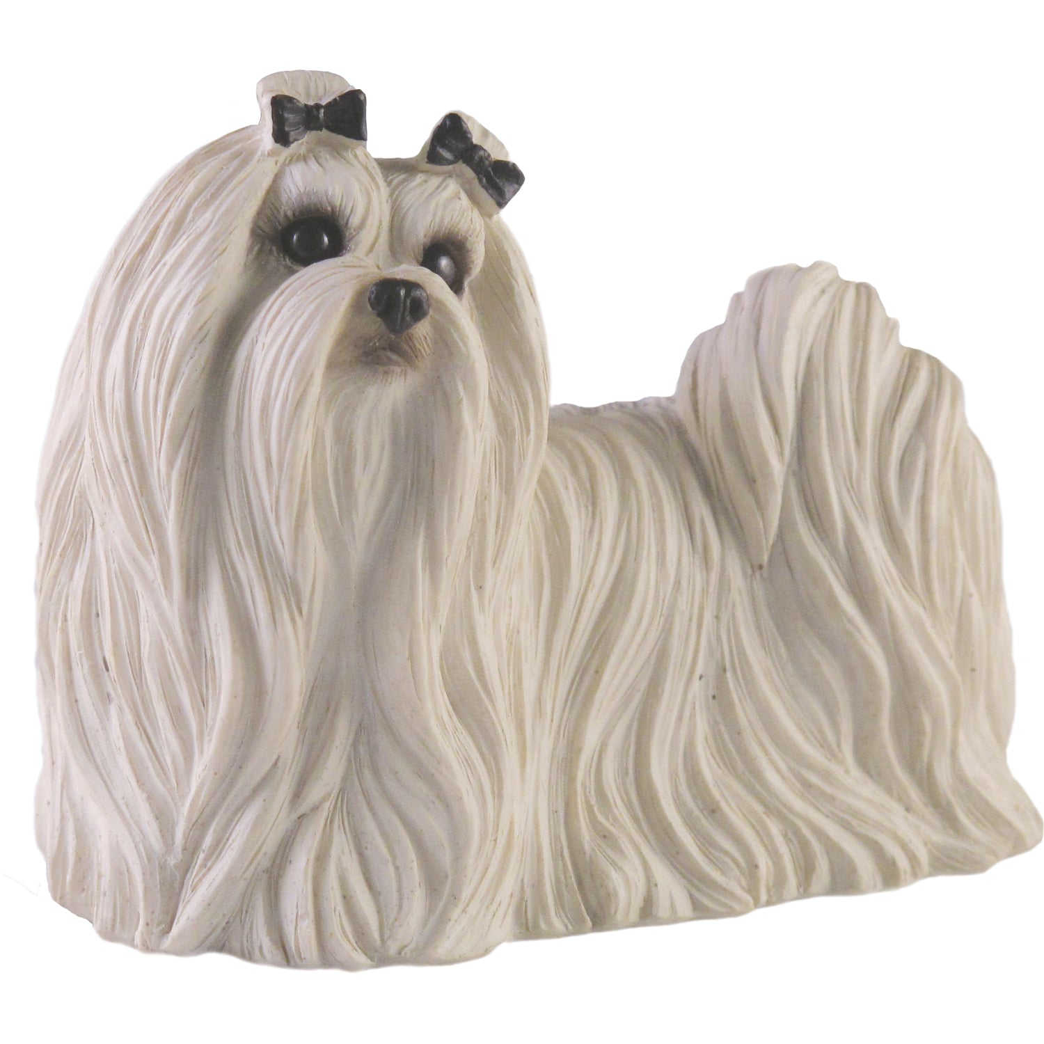 "Sandicast ""Small Size"" Standing Maltese Dog Sculpture"