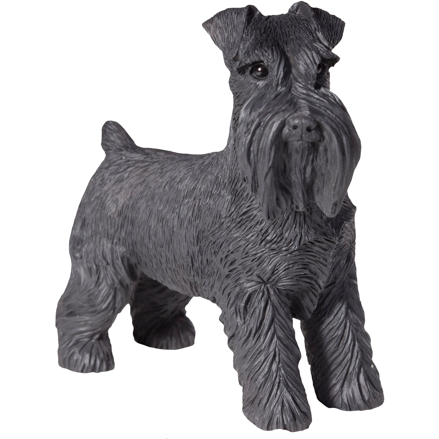 "Sandicast ""Small Size"" Standing Black UC Schnauzer Dog Sculpture"