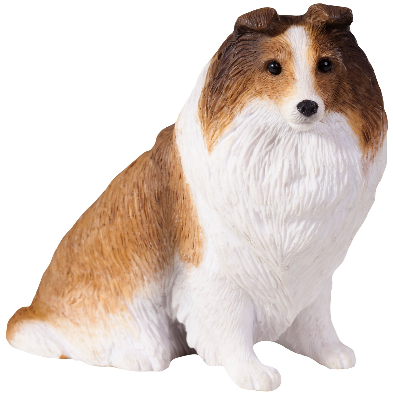 "Sandicast ""Small Size"" Sitting Sable Shetland Sheepdog Sculpture"