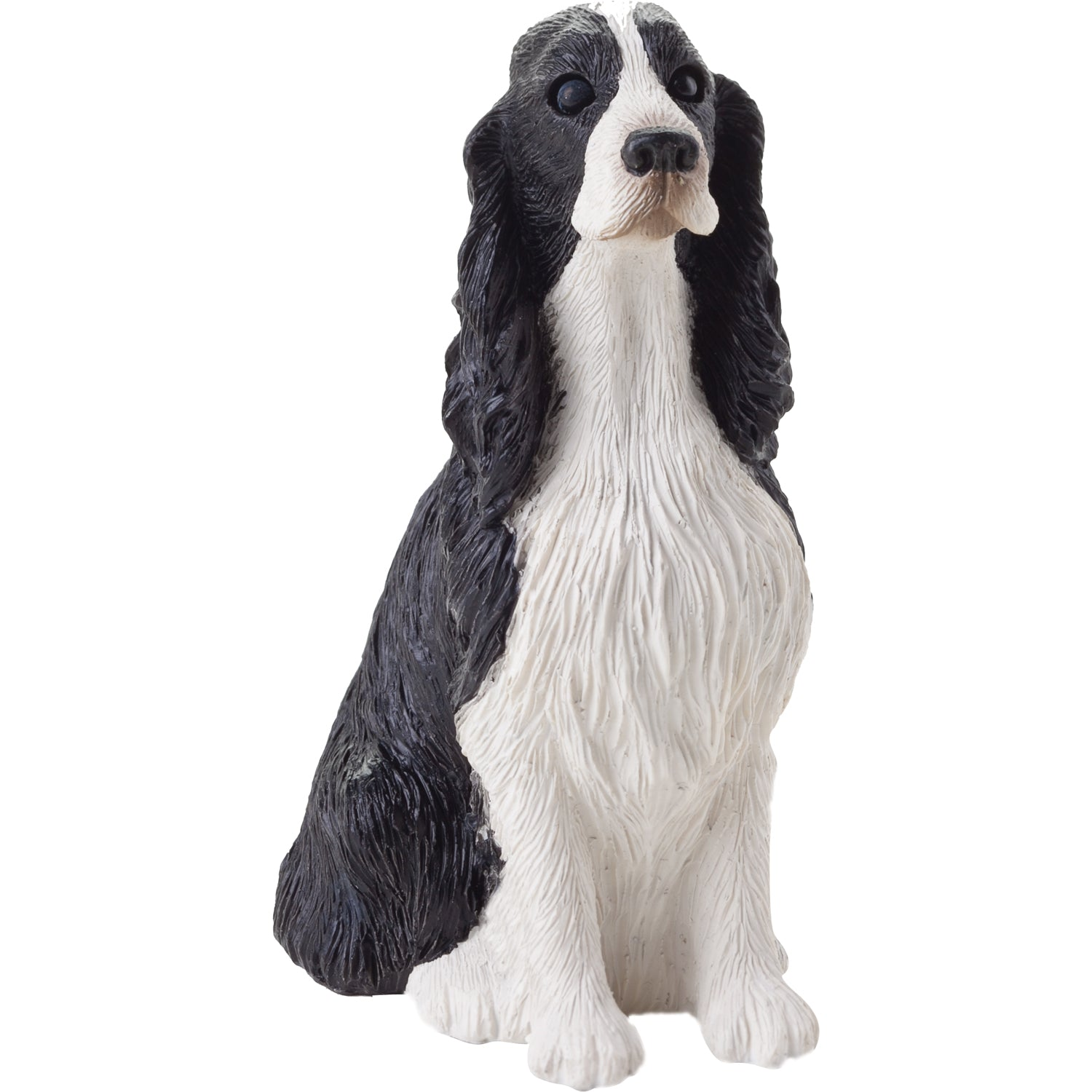 "Sandicast ""Small Size"" Sitting English Springer Spaniel Dog Sculpture"