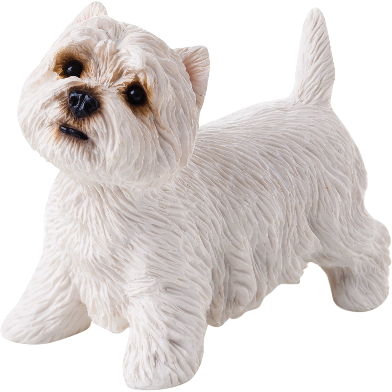 "Sandicast ""Small Size"" Standing West Highland White Terrier Dog Sculpture"