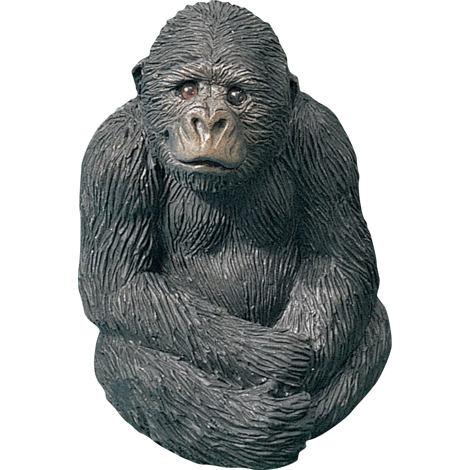 "Sandicast ""Small Size"" Sitting Gorilla Sculpture"