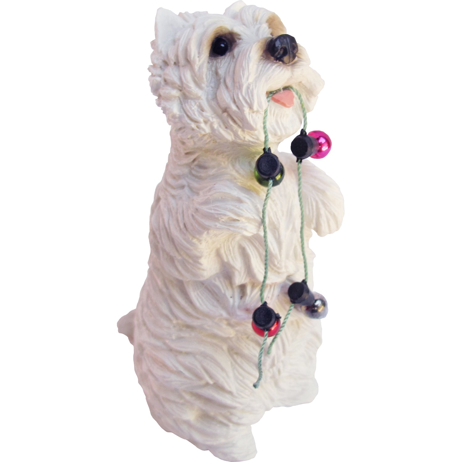 Sandicast Sitting Pretty West Highland Terrier w/ Lights Christmas Dog Ornament