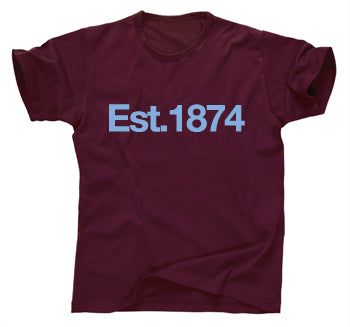 Aston Villa Established 1874 T-Shirt