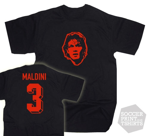 Paolo Maldini AC Milan Number 3 T-Shirt
