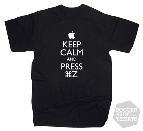 Funny Keep Calm & ⌘Z Apple Mac Undo Design T-Shirt
