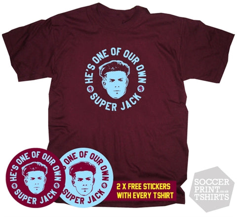 He's One Of Our Own Super Jack Grealish Aston Villa T-Shirt