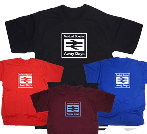 Custom Away Days Football Special Rail Logo T-Shirt