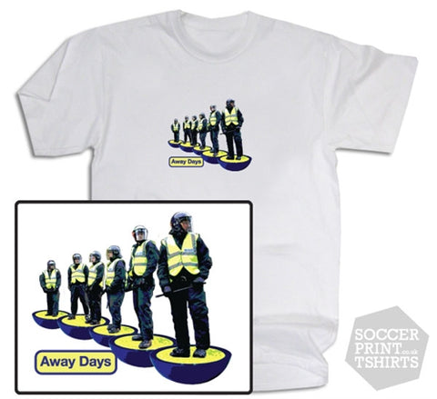 Football Away Days Subbuteo Style Police T-Shirt