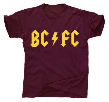 Cult Bradford City retro BCFC rock T-shirt