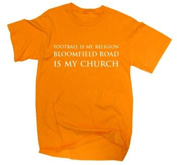 Blackpool Bloomfield Road Is My Church T-Shirt